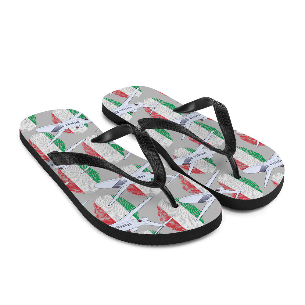 Italy - Cool Private Jet Flip Flops