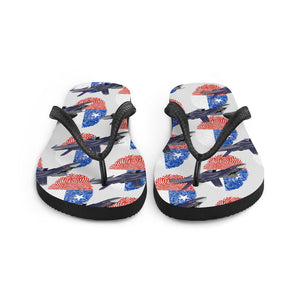 Chile - Cool Air Force Aircraft Flip Flops