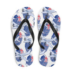 New Zealand - Cool Twin Engine Aircraft Flip Flops