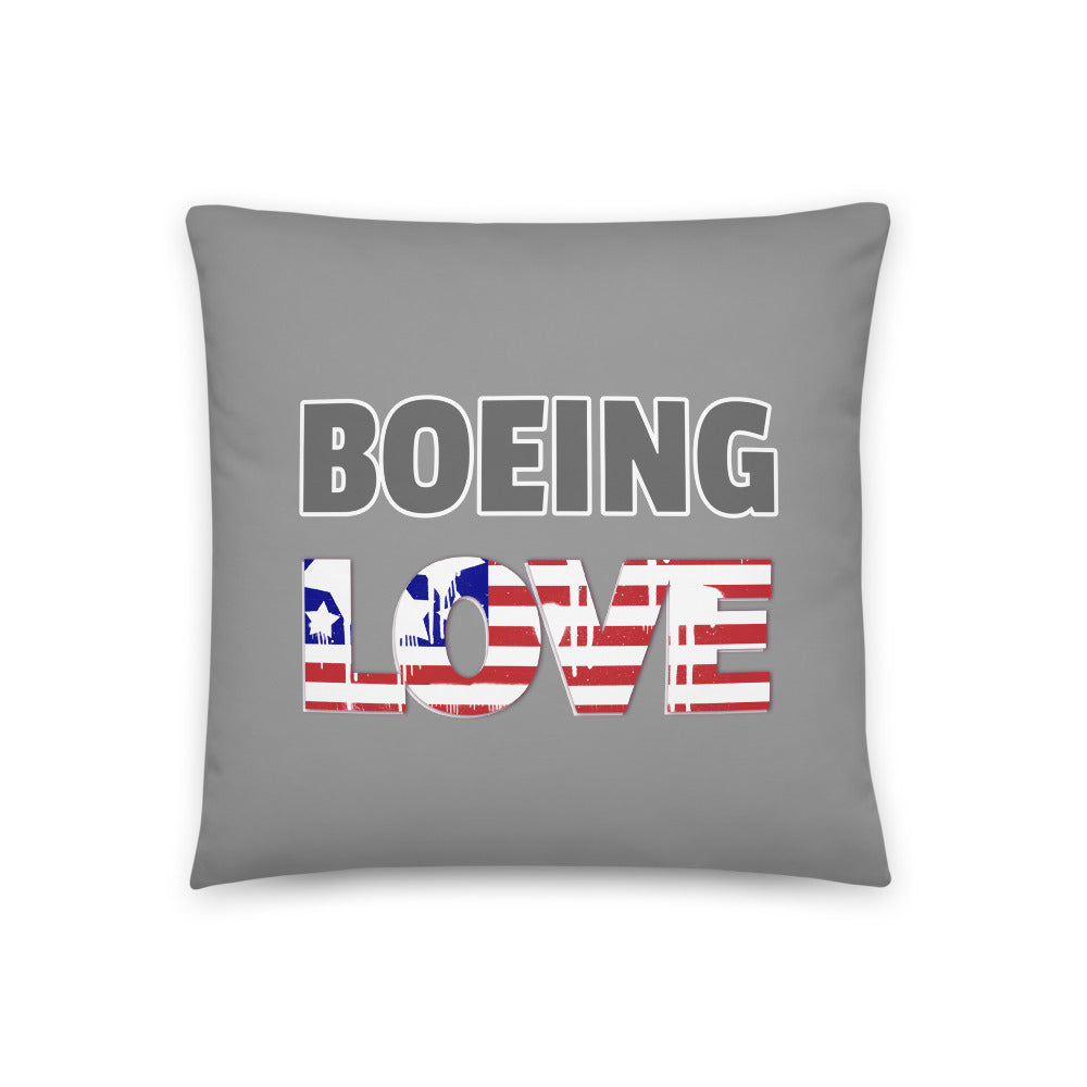 Boeing Love Throw Pillow