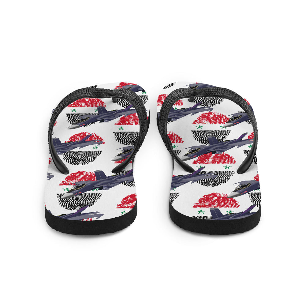 Syria - Cool Air Force Aircraft Flip Flops