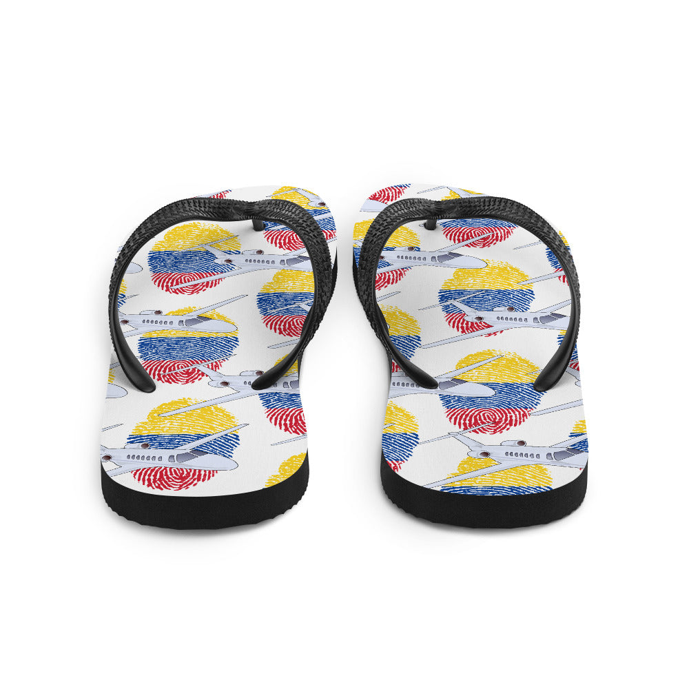 Colombia - Cool Private Jet Flip Flops