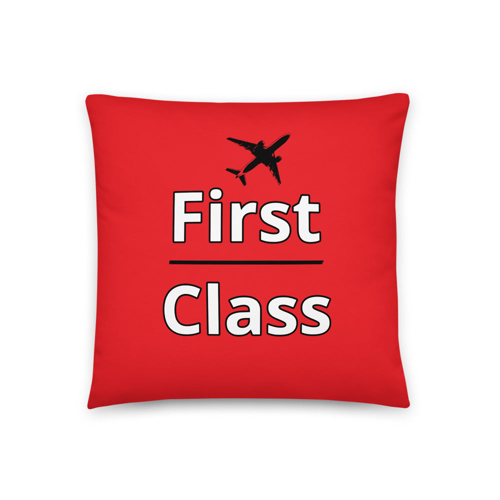 First Class Throw Pillow