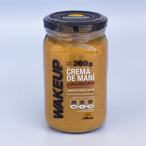 CREMA DE MANÍ CRUNCHY WAKE UP 360 GR.
