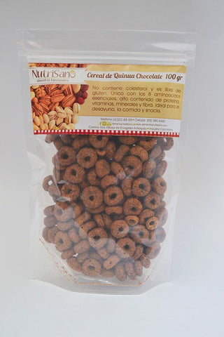 CEREAL QUINOA LOOPS CHO COLATE X 100GR.