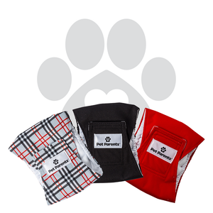 RETAILER EXCLUSIVE - Bella & Calvin Collection® Washable Dog Belly Bands (3 Pack) - DESIGNER