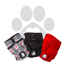 Load image into Gallery viewer, RETAILER EXCLUSIVE - Washable Dog Diapers Bella & Calvin Collection®  (3 Pack) - DESIGNER