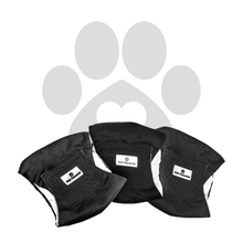 Load image into Gallery viewer, Washable Dog Belly Bands (3pack) of Premium Male Dog Wraps - BLACK