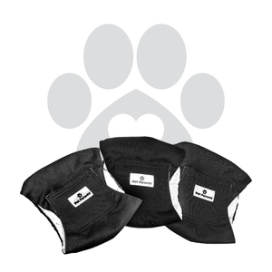 Washable Dog Belly Bands (3pack) of Premium Male Dog Wraps - BLACK