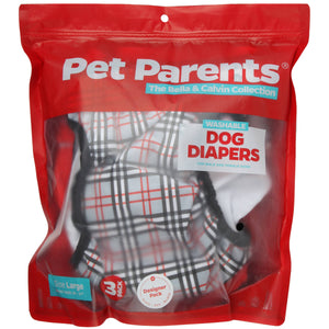 RETAILER EXCLUSIVE - Washable Dog Diapers Bella & Calvin Collection®  (3 Pack) - DESIGNER