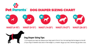 dog diapers sizing chart