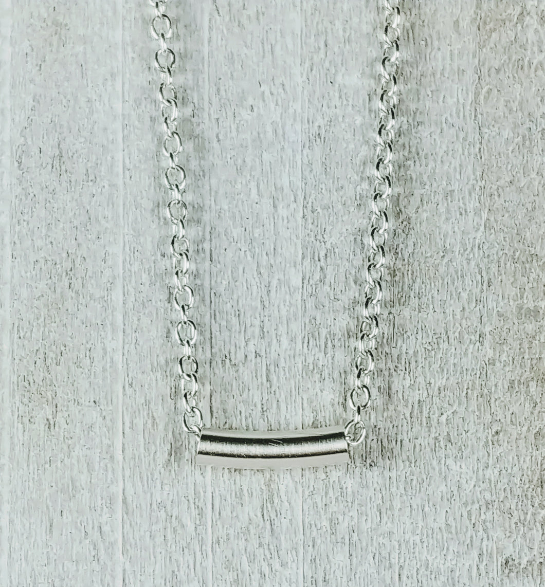 Sterling Silver Tiny Tube Necklace