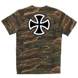 Independent Bar/Cross Regular Fit S/S T-Shirt Camouflage Green