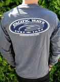 Pacific Wave Hollow Oval Men's L/S T-Shirt Slate