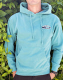 Pacific Wave Hollow Oval Pullover Hoodie Aqua