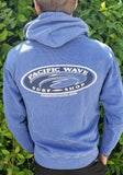 Pacific Wave Hollow Oval Pullover Hoodie Pigment Blue