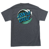 Santa Cruz Wave Dot T-Shirt Youth Charcoal Heather