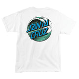 Santa Cruz Wave Dot T-Shirt Youth White