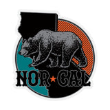 Nor Cal North Region Clear Mylar Decal Black/Red/Teal 4.5 in