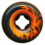OJ 54mm Pumpkin Head Bloodsuckers Orange and Black Swirl 97a Skateboard Wheels