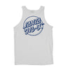 Santa Cruz Mixed Up Dot Regular Tank Mens T-Shirt, White