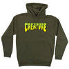 Creature Logo Pullover Hooded Sweatshirt Army Green