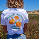 Pacific Wave California Poppy Women's T-Shirt White