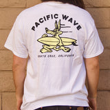 Pacific Wave Wolf Men's T-Shirt White