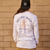 Pacific Wave Icon Long Sleeve T-Shirt White