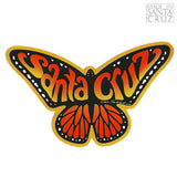 Tim Ward Santa Cruz Butterfly Sticker Orange