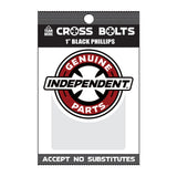 "Independent Genuine Parts Phillips Hardware 1"" Black"