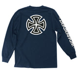 Independent Bar/Cross Men's Long Sleeve T-Shirt Navy