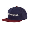 Independent Bar Mesh Trucker Hat Navy/Maroon