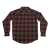 Independent Mill Button Up L/S Shirt Burgundy Plaid