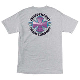Independent Purple Chrome T-Shirt Athletic Heather