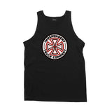 Independent Red/White Cross Mens Tank Top Black