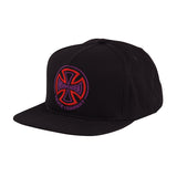 Independent Two Tone Snapback Hat Black