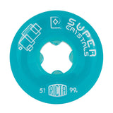 Ricta Super Crystals Skateboard Wheels 51mm Blue