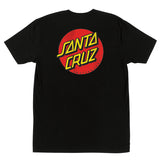 Santa Cruz Classic Dot Chest T-Shirt Black