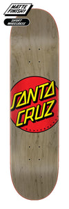 Santa Cruz Classic Dot Olive Deck 8.375in x 31.83in