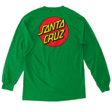 Santa Cruz Classic Dot Long Sleeve T-Shirt Kelly Green