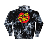 Santa Cruz Classic Dot P/O Hooded Pullover Hooded Mens Sweatshirt, Multi Black