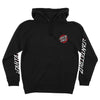 Santa Cruz Damaged Dot Pullover Hoodie Black