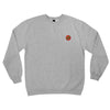 Santa Cruz Embroidery Classic Dot Crew Neck Sweatshirt Grey Heather