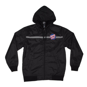 Santa Cruz Blue Dot Hooded Windbreaker Jacket Black