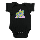 Santa Cruz Not A Dot Infant One Piece Black w/Pink