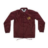 Santa Cruz Opus Dot Coach Windbreaker Maroon