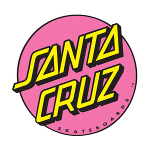 Santa Cruz Pink Dot Sticker 3 inch