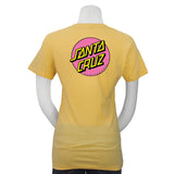 Santa Cruz Other Dot Fitted S/S T-Shirt Banana Cream