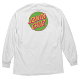 Santa Cruz Other Dot L/S T-Shirt White/Neon Green